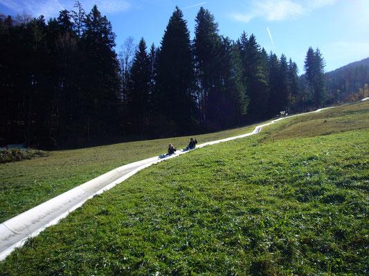 Bei der Blomberg Sommerrodelbahn