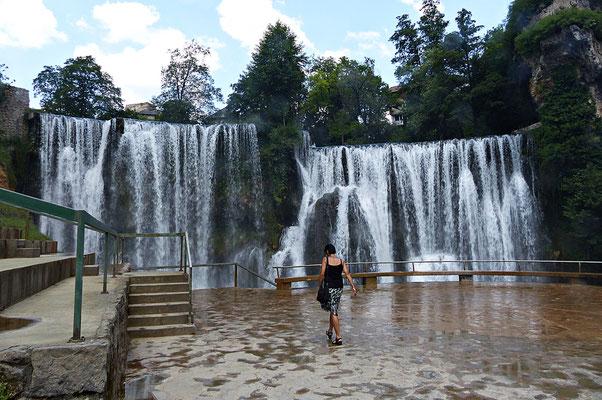Der Wasserfall in Jaice