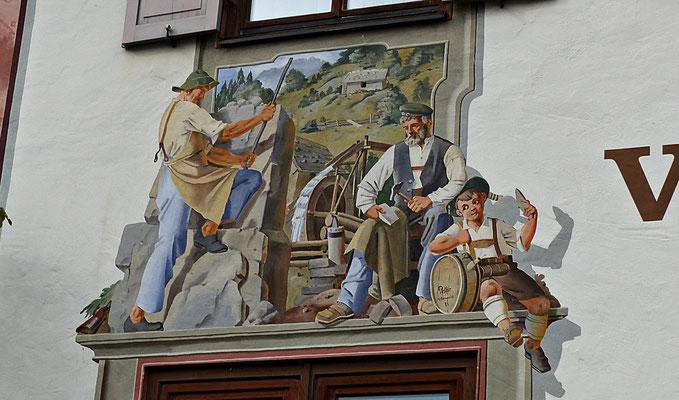 Lüftelmalerei in Unterammergau