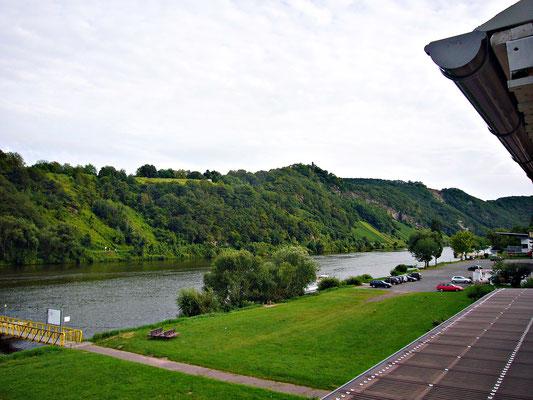 Blick von unserem Balkon in unserem Hotel