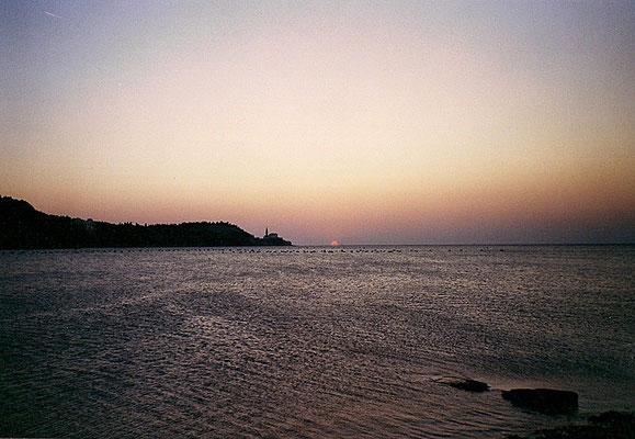 Sonnenuntergang in Strunjan