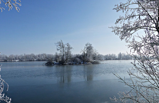 Beim Lech im Winter