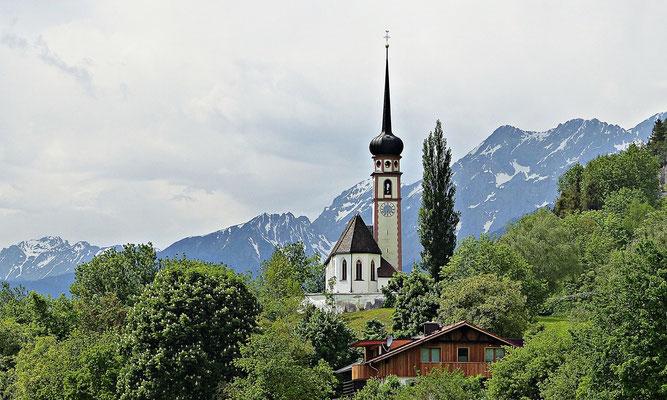 Die Pfarrkirche von Leiblfing