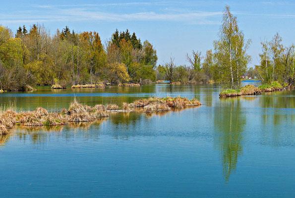 Der hintere Teil des Sees