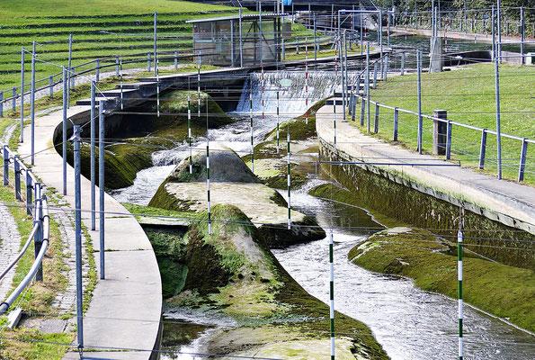 Der Wasserkanal der Profis leider nicht geflutet