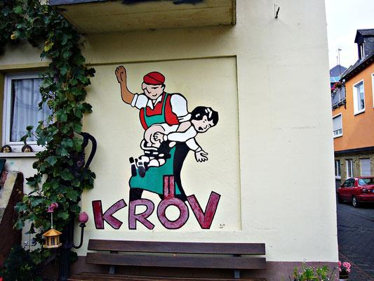 Eine Wandmalerei aus Kröv an der Mosel