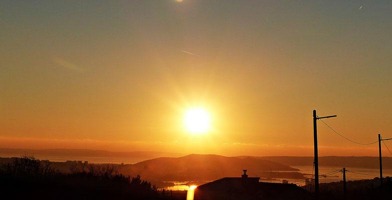 Sonnenuntergang bei Split