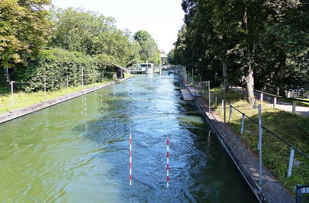 Der Eiskanal die Olympiastrecke