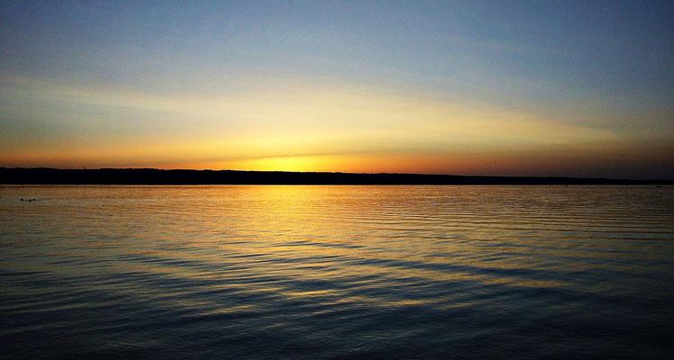 Sonnenuntergang beim Ammersee