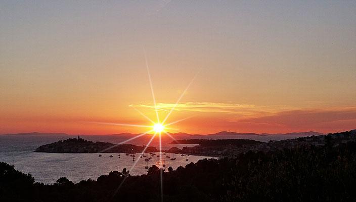 Sonnenuntergang bei Primosten