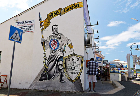 Wandbild in Rogoznica Kroatien