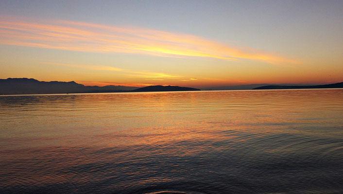 Sonnenaufgang beim Strand