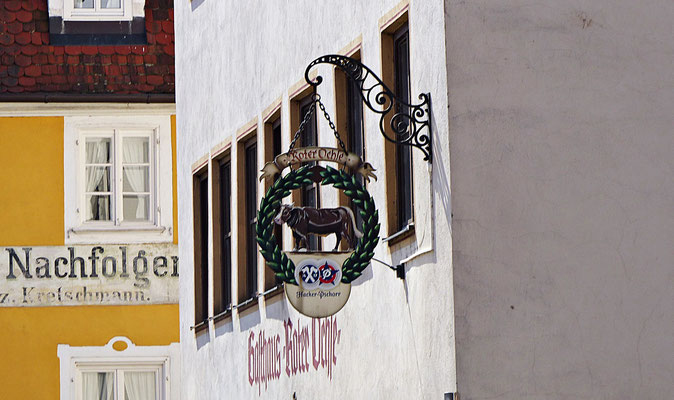 Nasenschild in Nördlingen