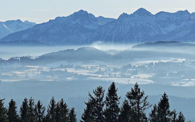 Inversionswetterlage beim Auerberg