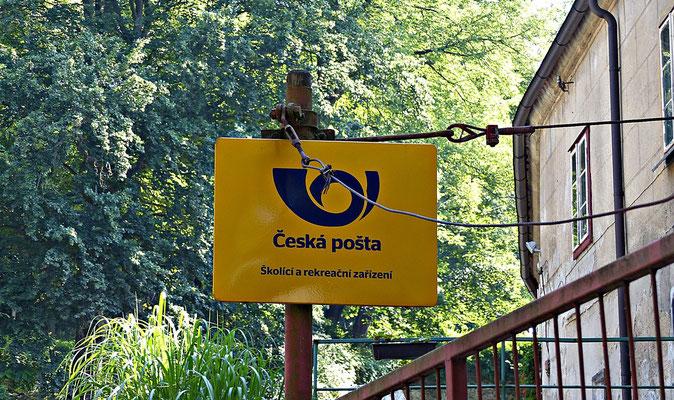 Das Postamt oben in der Burg