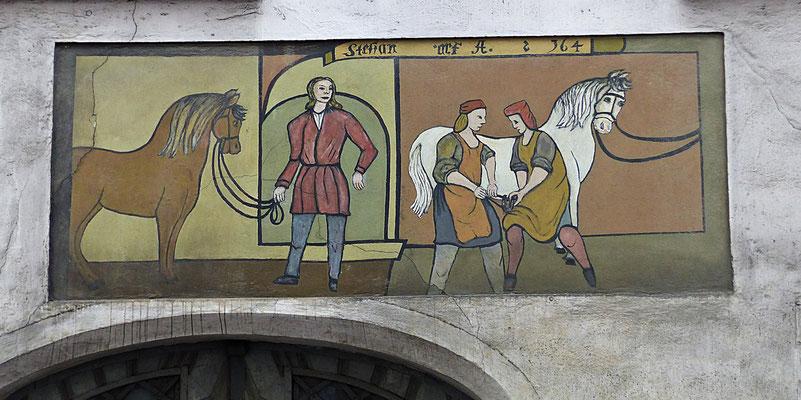 Lüftelmalerei in Augsburg