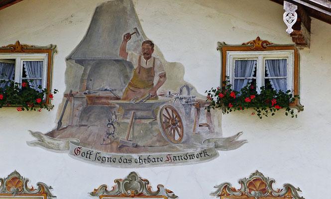 Lüftlmalerei in Jachenau