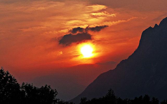 Sonnenuntergang in Slowenien