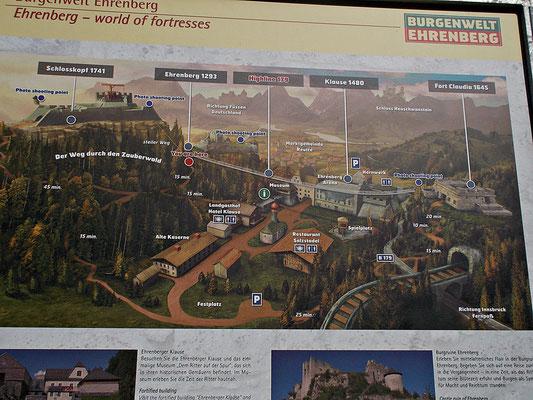 Karte von der Anlage