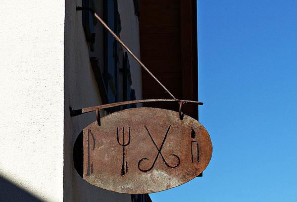 Nasenschild in Oberammergau