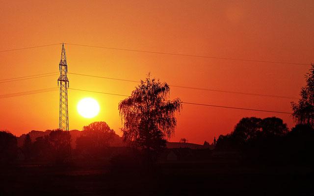 Sonnenuntergang in Böhmen