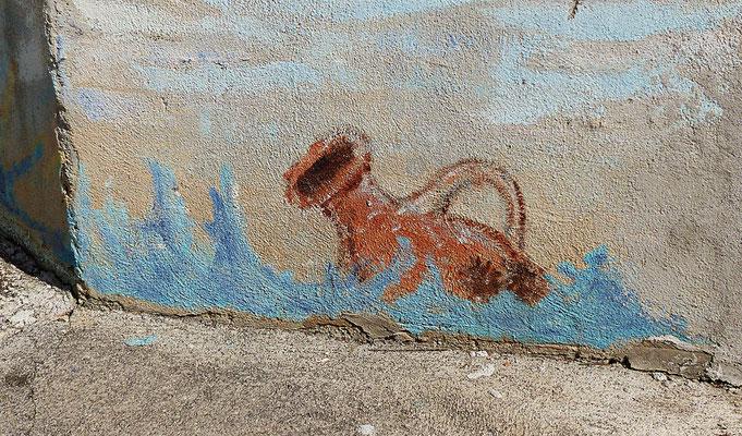 Wandbild in Kroatien