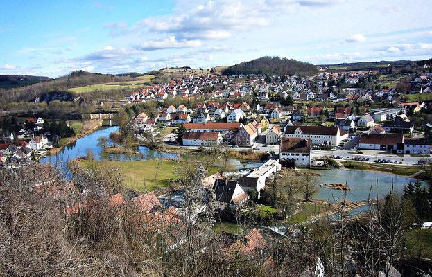Harburg von oben