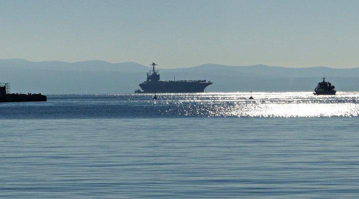 Flugzeugträger USS Truman vor Split