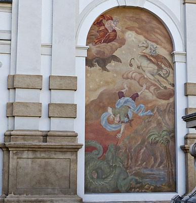 Wandmalerei in Salzburg