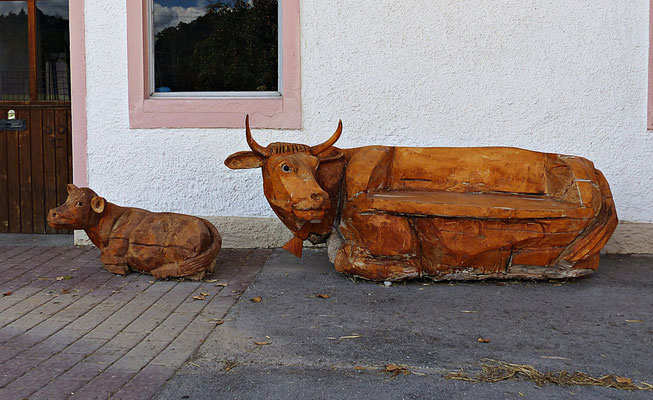 Holzschnitzerei im Allgäu