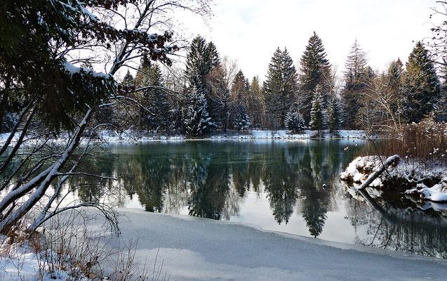 Der Lech bei Scheuring im Winter