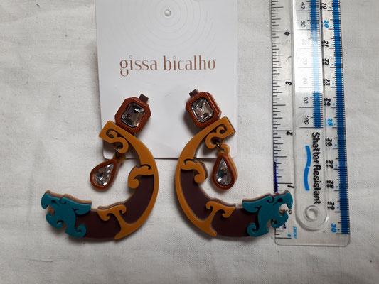 Acrylic earrings for pierced ears €120