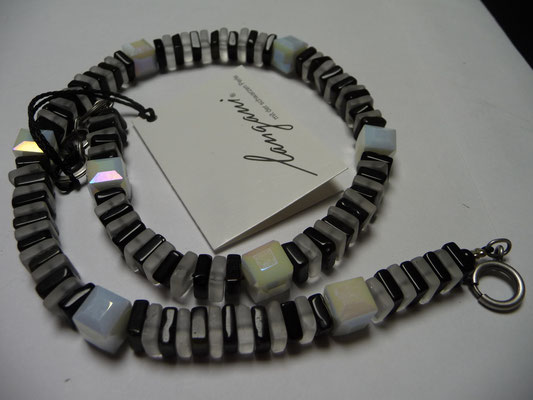Langani Kette - Bergkristallquader, facettierte Glaswürfel.....€165