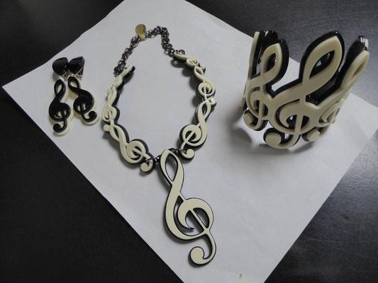Earrings $120 Necklace $145 Cuff €140