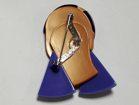 LEA STEIN - Josephine Baker brooch, back view €290