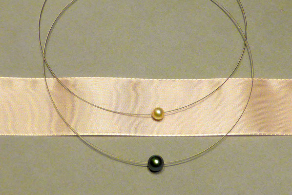 Schmuck Perlenkette zwei separate Perlen