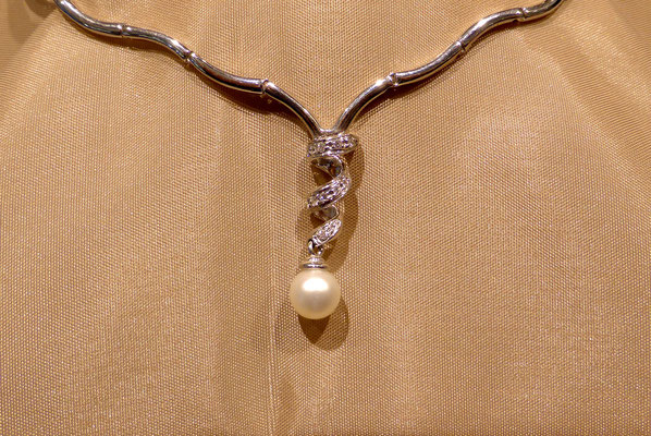 Schmuck Perlenkette verzerrter Perlenanhänger