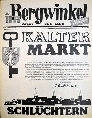 1968 Werbung im Bergwinkel Wochenboten