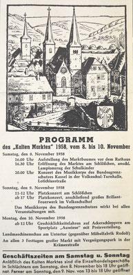 Programm 1958