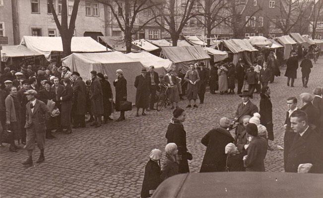 Kalter Markt  Bild  Jahr unbekannt (Stadtarchiv Schlüchtern)