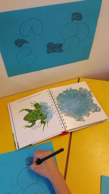 Froschlaich fertig zeichnen