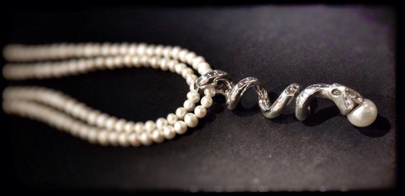 zilver met parels