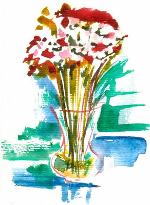 Quick Flowers, postcard sized, watercolour on paper (sold)