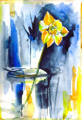 Just a Flower, 24 x 32 cm, wc on paper, 2010, 80 EUR