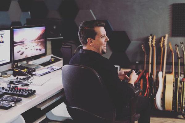 Kreativzeit im Studio für das Album