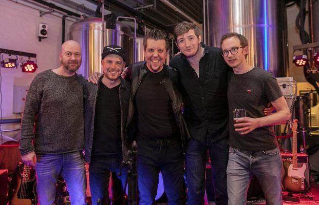 Die Band v.l. Jens Carstens, Daniel Otte, Peter Widereck, C.J. Comptone, Stefan Rebelski