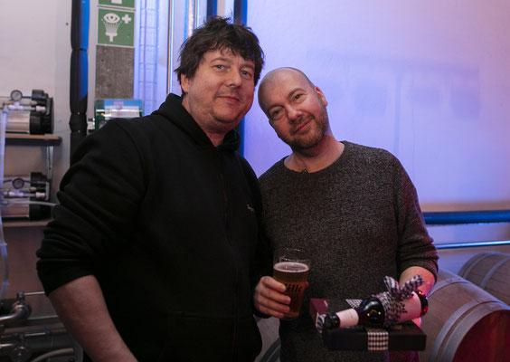 Sound-Profi Torsten Nesch und Jens Carstens nach der Show