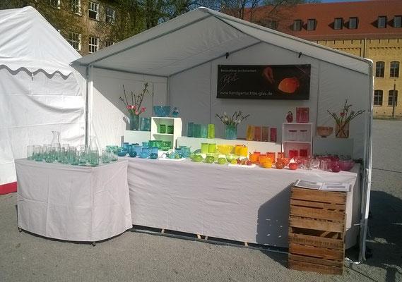 Marktstand Barbara Ebner von Eschenbach Handgemachtes Glas