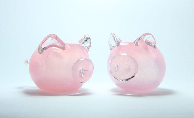 Glasschwein, Durchmesser ca. 8 cm