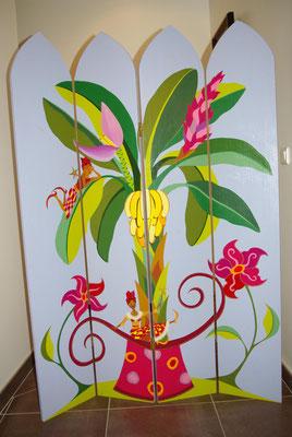 Les Floralies  - Paravent par artiste peintre à Nantes (Loire-Atlantique)